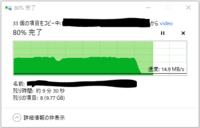 外付けSSDへのデータコピーの際に,最初は十分な速度が出ているのですが,途中から急に転送速度が遅くなってしまいます。 原因や対処方法はありますでしょうか。