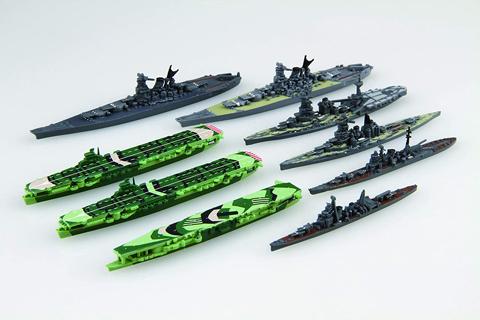 戦争悪鬼の日本海軍空母にはこのような塗装がされていましたが。この不規則な柄は適当に書いたんですか また、戦艦の甲板も緑に塗られていたんですか