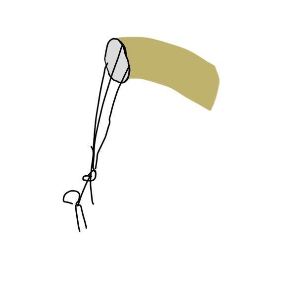 これなんでしょう。 凧のようにあげて吹き流しのような、太く大きな金の筒(内側は銀色)でした