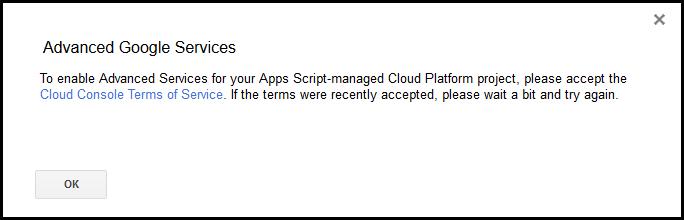 「Google Apps Script」で「Google の拡張サービス」を有効にできません。 作成しているGAS自体は許可しています。 スクリプトエディタ ↓ リソース ↓ Google の...