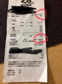 くら寿司レシート人数違い 4名のところ 3名になってた 4000円以上食べた。  EPARKのサイトで申請しましたが 4000ポイントもらえる?