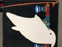 高校時代に授業で模写した日本画の詳細を知りたいです。 添付画像の絵を高校時代に描いたのですが、模写元の日本画をご存知の方いらっしゃいませんでしょうか?  止まり木に止まってる鳥が下を向いている絵です...
