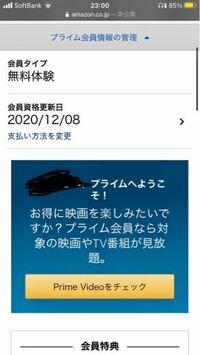 Amazonプライム30日無料体験についての質問です 今日無料体験に登録して自動更新を無効にしようと思って調べたんですけど プライム会員情報→プライム会員資格を終了する のところが表示されてないんですけどこれ...