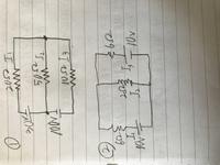電気回路の問題の解答解説をお願いします。写真の①と②を網目電流法を用いて電流の値を求めよ。