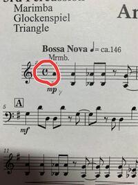 打楽器、マリンバの楽譜ですがこれはどういう意味なのでしょうか...? 教えていただけると嬉しいです...! よろしくお願いいたします!