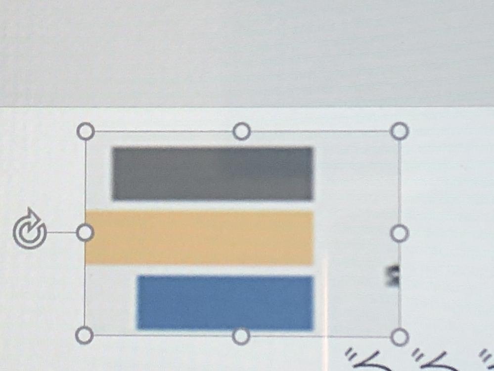パワーポイントについて質問です。 この、写真の周りの丸いやつってどんな役割があり、使うとどのようになりますか?教えてください。