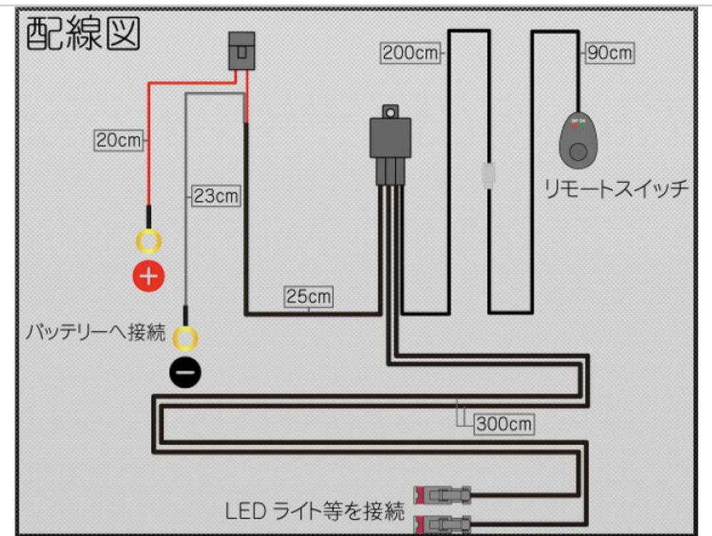 車の作業灯用のリレーハーネスについてです。 車に作業灯をつけようとしており、凡用のスイッチ付きリレーハーネスを使用しようとしております。 画像の仕様だと、エンジンがかかっていなくてもスイッチを...