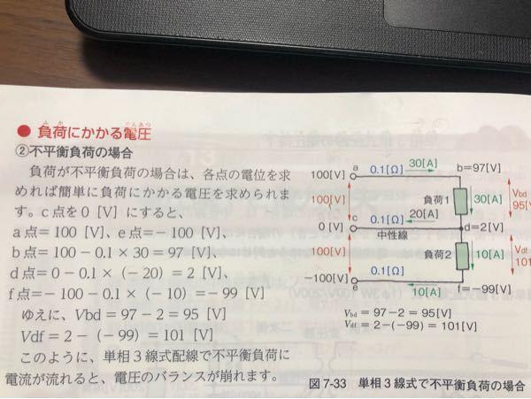 電気工事士2種の電気の基礎理論で、 不平衡負荷の電流が、 d地点は-20A、f地点は-10Aになってます。 なぜマイナスになるのか分かりません。 よろしくお願いいたします。