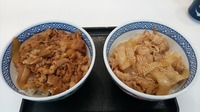 吉野家の牛丼と豚丼だったらどっち好き? (^。^)b