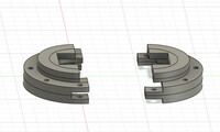 FUSION360でボディを分割しました。(写真を参照ください)  3Dプリンターで印刷するとき、写真のように左右を離して配置するのですか?? 左右くっついた状態(組んだ状態)でも印刷成功できますか??  3Dプリ...