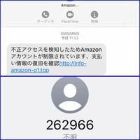 AmazonからSMSで 不正アクセスを検知したためAmazonアカウントが制限されています、支払い情報の復旧を確認http://info-amazon-o1.top  と届きました。 URLを飛ぶと普通のAmazonのログイン画面です。 これはやら...