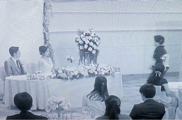 35歳の少女野ドラマでの結婚式のシーンは、誰の結婚式でしょうか。