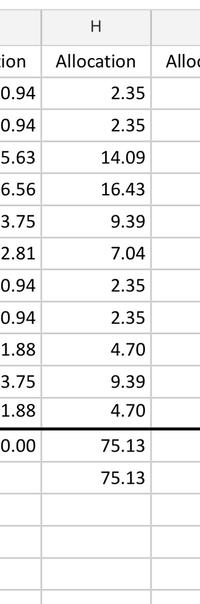 エクセルの合計で、添付のファイルの合計は75.14ですが、75.13と表示されます。 75.14と表示させる関数を教えてください。 尚、75.13の合計は残しておきたいです。 どうぞよろしくお願い致します。