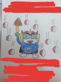 絵の感想をお願いします。 クックルンに出てくるクヨッペンを描いてみました。
