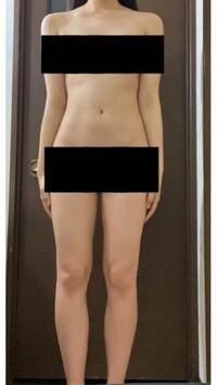 168センチです。 何キロくらいに見えますか? また骨格がわかる方がいらっしゃいましたら教えていただけると幸いです。
