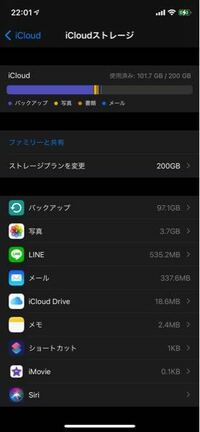 iCloudのバックアップについて。 明日使用しているiPhoneが故障したため修理に出すのですがバックアップしてきてくださいと言われたのでしています。  ですが、残り時間が1時間から2時間、3時間とどんどん増えていきます。  前回のバックアップが97.1ギガとかなり多いので削除したのですが消えてません。  なぜでしょうか。  明日の15時に修理に出す予定なのですが間に合いますかね?