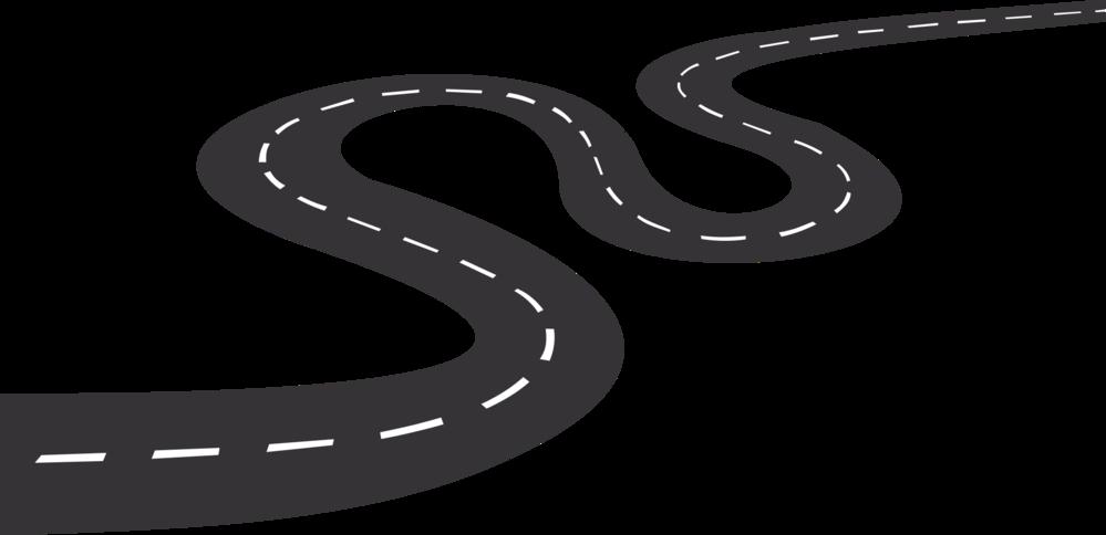 下のような曲がりくねった道路を書きたいのですが、どのような手順で書けば綺麗に書けますか?