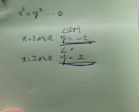 傍線部のようになるのはどうしてでしょうか? ちなみに、問題文は   二乗すると-8i になるような複素数z=x+yi(x.yは実数)はちょうど二つ存在する。このzを求めよ。です