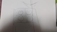 画用紙を4分割にして、それぞれ1時50分を指す時計を4日描く。その度に違う時計になります。この案はどうでしょうか?