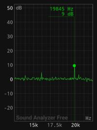 最近、自宅でキーンという高い音が気になるようになりました。毎日24時間鳴っています。 じっとしているときや寝る時はたいへん気になり、不快です。スマホのアプリで測ったところ、周波数は19,845Hz(約20KHz)、...