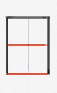 カラーボックスの組立について質問です  ファンヒーターの収納場所にしたく、 2段カラーボックスの底板と仕切り板を付けず、添付画像黒枠のような形に組み立てたいと思っております。(背板あり/赤い箇所のみ外...