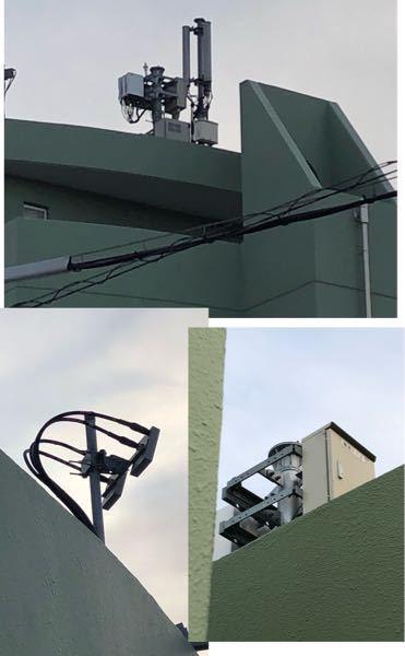 これはauの基地局で間違い無いですか? 写真のもの全て同じマンションの屋上についてました。
