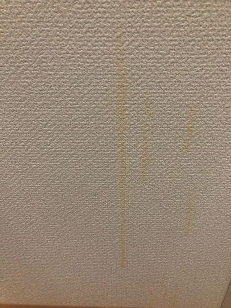壁紙がオレンジ色に変色してしまいました。どうすれば落とせますか? おそらく洗剤などがかかったままにしていたためだと思います。