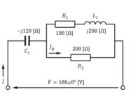 ※周波数fは50Hzとします。 この図を使った問題の回答の仕方を教えてほしいです。  1.抵抗R1とインダクタL1の合成インピーダンスZ'1を求め、直交形式で示しなさい。  2.回路全体の合成インピーダンスZ'を求め、直交形式で示しなさい。  3.回路に流れる電流iを求め、直交形式で示しなさい。  4.電流iRを求め、直交形式で示しなさい。  という問題なのですが求め方が分かりません、答えと...