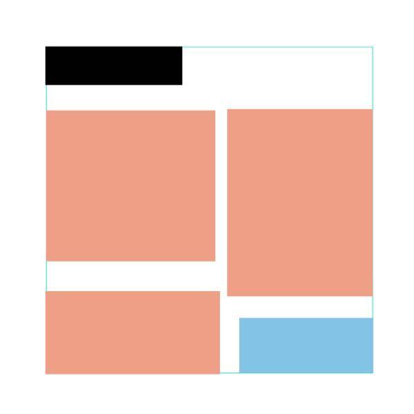 画像の配置についてアドバイスください。 画像のオレンジと水色の図形は1つの正方形のグループです。 オレンジはimg、水色はpとします。 サイズが違う画像とテキストを画像のように配置するには ど...