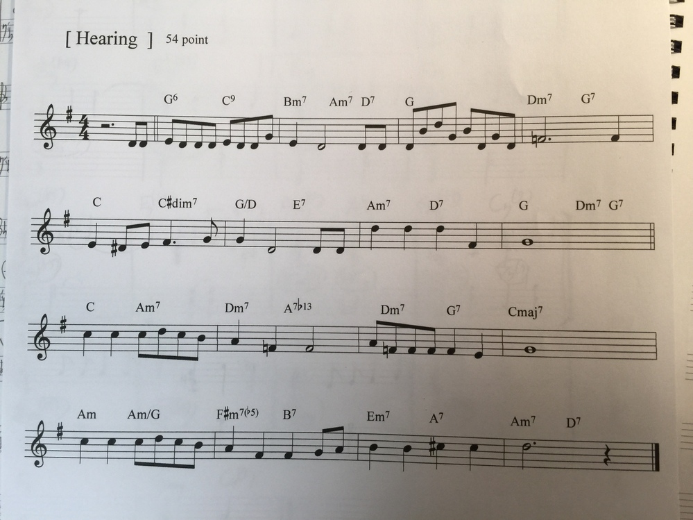 このスコアのジャズ?の曲名を教えて下さい