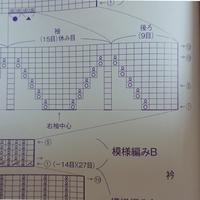 この編み図の編み方を教えてください。 棒針往復編みなのですが、模様編みBの⑤から次の①へ進む方向がどちらも右から左になっています。 1度糸を切り、改めて同じ方向(表)を編むということでしょうか?