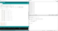 pythonについての質問です。 Arduinoでセンサーから読み取ったx,yの数値をシリアル通信で送り、Pythonでその内容を上手く分割して読み取り取りたいのですが、スライスが上手くいきません…pythonはまだ勉強中なの...