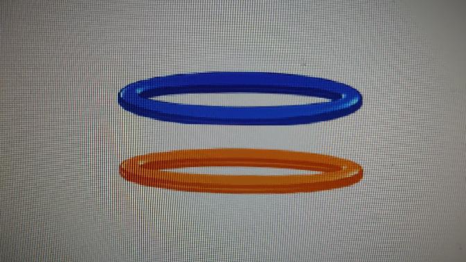 パワーポイントでこういうリングの作り方を教えて下さい。リングの形とあとこういう光沢をつけたいです。