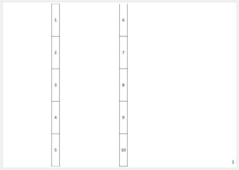 パワーポイントのテキストボックスを連番を振りたい 1つのスライドの中に、例えば、10個のテキストボックスがあるとすると 左上から1,2,3,4,5 右上から6,7,8,9,10 というように連番...