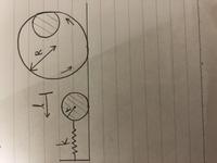 工業力学、問題です。 図のようにビー玉をばねの力で加速させてレールの上を走らせることを考える。ばねを自然長からl 縮ませた状態から手を放す場合に 、ビー玉がループ中もレールから離れないためのばね定数kの条件を求めよ。ただし、ビー玉は半径r、質量mで均一な質量分布の球とみなせ、レールのループの半径はRでビー玉はレール上を滑らずに転がるものとする。羽根とビー玉の接触分に摩擦は無いものとする。...