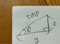 高校数学   xとyをsinθ、cosθ、tanθのいずれかを使って表すとどのようになりますか?