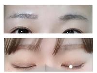 眉毛の処理、メイクの仕方について。  画像あり、閲覧注意です。 ※上スッピン、下化粧後です。スッピンはスキンケア後の為テカテカですみません(>_<)  現在大学4年生です。眉毛の処理を昔からピンセットで抜いて行っており、形が左右非対称で悩んでいます。 写真で見る限り、左目側(写真左)の眉毛に合わせて処理したいなと思うのですが、 実際鏡で直接見ると右目側(写真右)の形の...