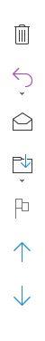 Outlookが最新版になり、メールの閲覧ウインドウの右側に写真のような縦のメニューバーが出るようになりました。ウインドウが狭くなるのでうっとおしくて仕方ありません。 消し方(非表示)の方法を教えていただけますか?