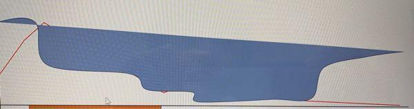 パワーポイントでこのような曲線の下側だけ塗り潰したい場合はどうすればよいですか?図形の塗りつぶしを選ぶと図のように始点と終点を結んだ線と曲線で囲まれた部分だけが塗り潰されてしまいます。 ご教授く...