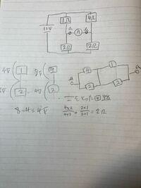 電気回路について、写真より電流計の値Aに流れる電流は テブナンの定理より (2+0)I=4 I=2A このような感じで求めるのですよね?