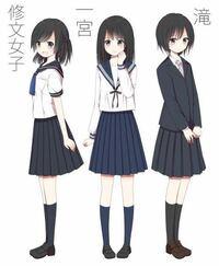 セーラー服の下の紺色スカートは、ブレザーに合わせるのも可能なんですか? 一番右の、こんな風に。