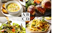 ハンバーグセット 最初にどれから口を付けますか?  スープ ハンバーグ サラダ ポテトフライ  もしくはライス(パン)や水ですか?