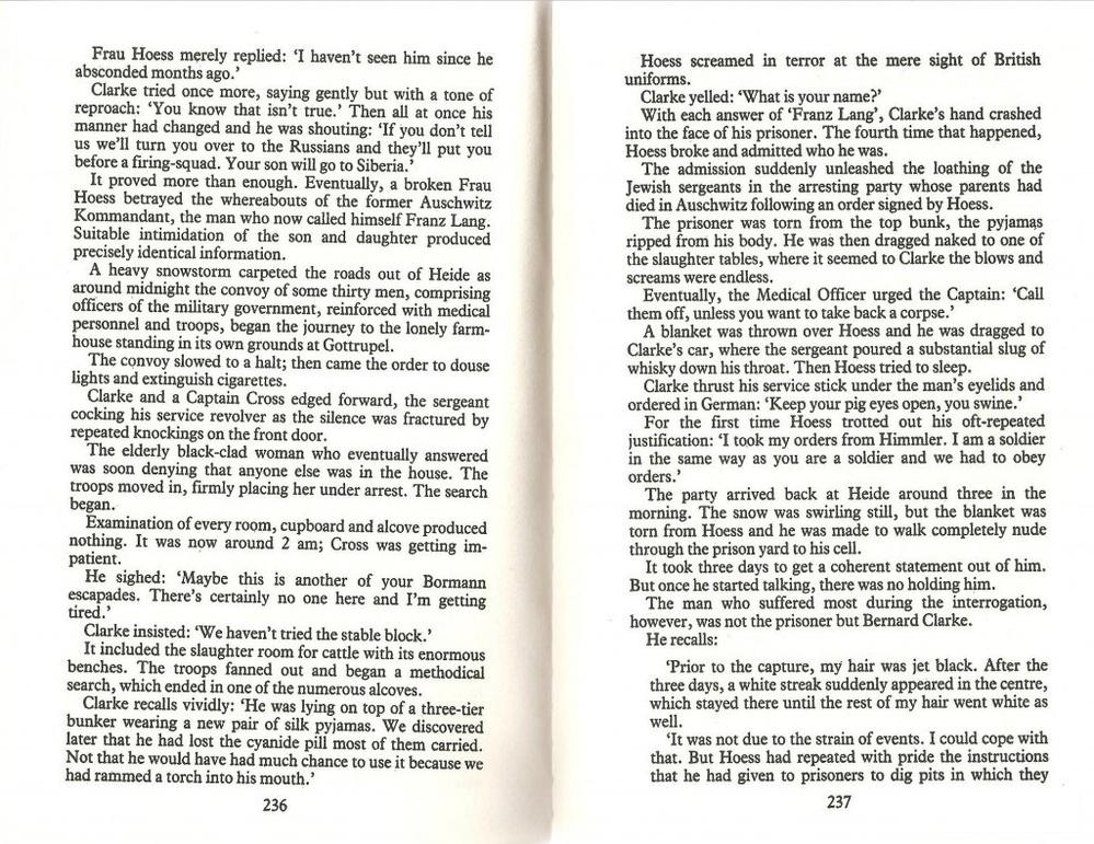 ホロコースト:『死の軍団』について。 もし知っている人がいたら教えてください。 ルパート・バトラーという人の書いた『死の軍団』(Legions of Death)1983年の本があります。日...
