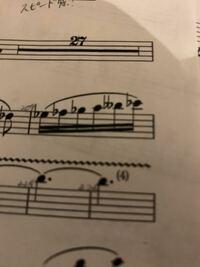 コンクールの自由曲の楽譜にフラットが2つついているものがあるのですがこれはどの音なのでしょうか? フルートなのでト音記号です。