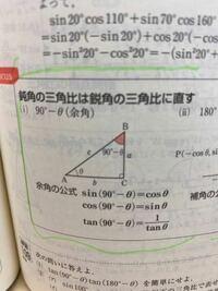 なぜtan(90°-θ)=1/tan θ になるのですか?