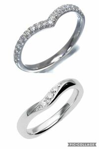 どっちが結婚指輪っぽく見えますか?
