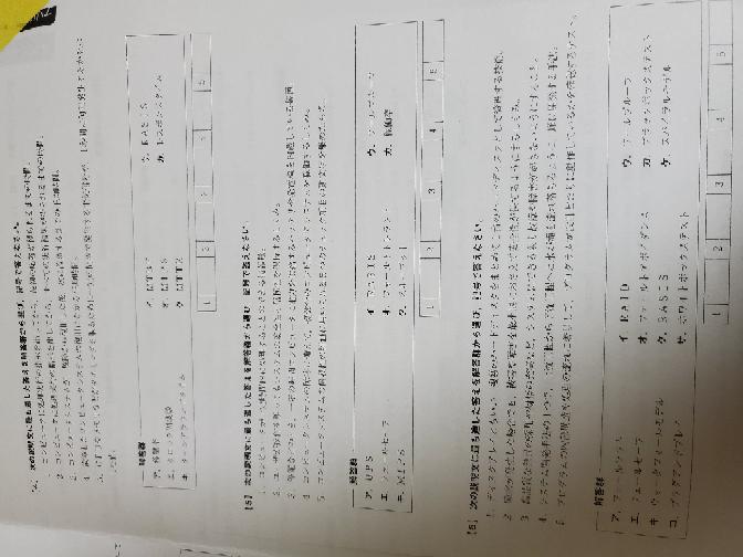 答え教えてくれると助かります。 情報処理検定一級の単語です。