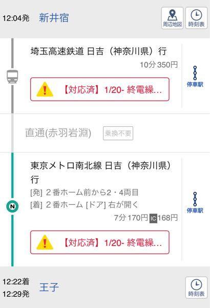 新井宿駅の「埼玉高速鉄道 日吉(神奈川県)行」は何番ホームですか?