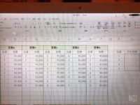Excelに詳しい方、ご教授お願いします。    画像の表を作成しています。 a~e各営業5名の全体の販売データ(品番と金額のみ)から、品番ごとに合計金額が出したいです。    数時間自分なりに調べてみて、【SU...