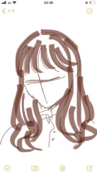 前髪の巻き方についてです。 この前電車に乗っていたら目の前にいたお姉さんの前髪がすごく可愛くて、真似したいなと思っています。 一応イメージを絵に描いたのですが、うまく描けなかったです… 多分アイロン...